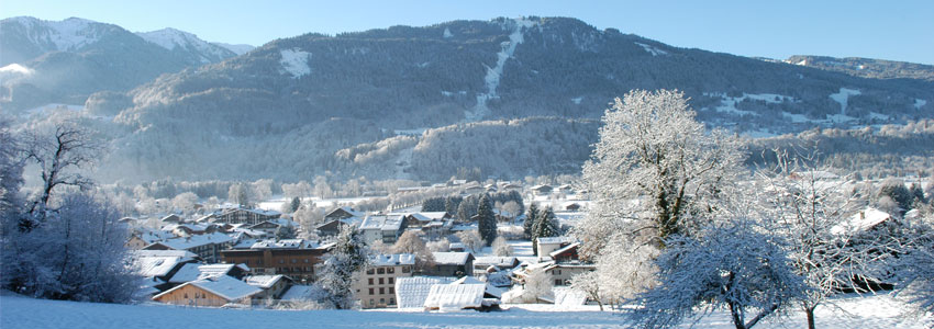 The view of the Samoens town